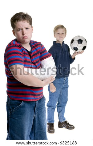 Two brothers posing for a portrait. Bonding, friendship, togetherness, love. - stock photo