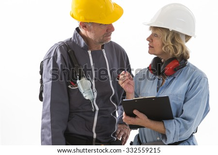 Two builders workers