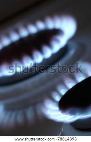 Two burners of cooker - stock photo