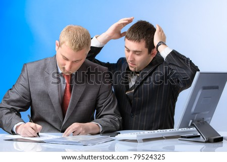 Two business men - stock photo