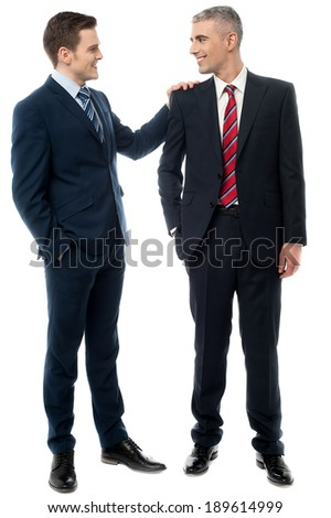 Two business men having conversation together  - stock photo