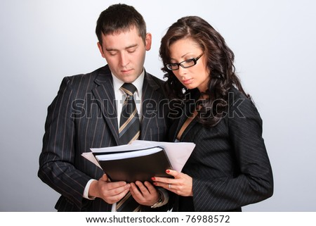 Two Business Partners - stock photo