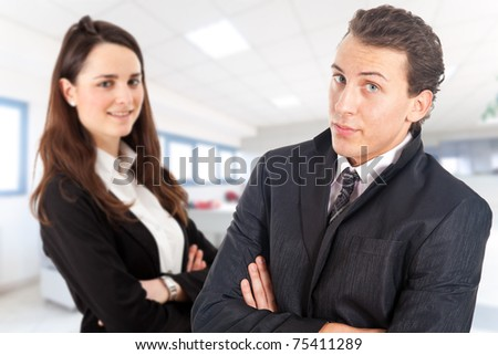Two business partners in a office