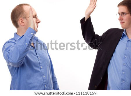 Two business people - stock photo