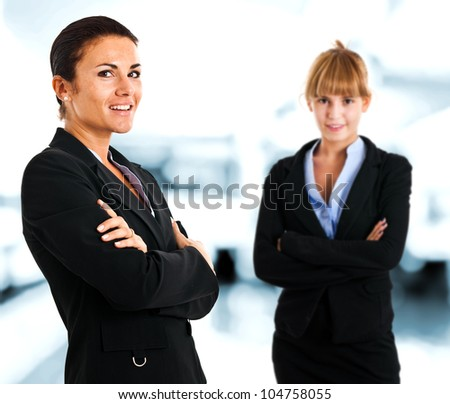 Two business women in an office