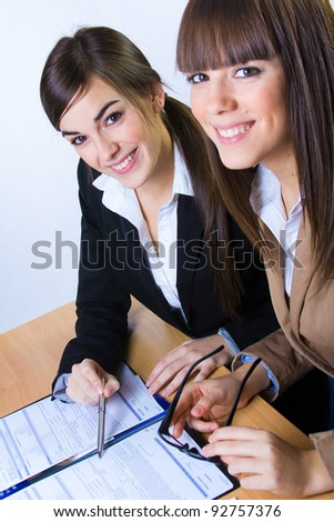 two business women in the office