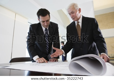 Two businessmen - stock photo