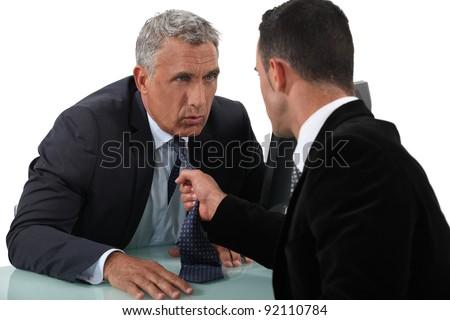 Two businessmen arguing - stock photo