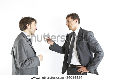 two businessmen discussing