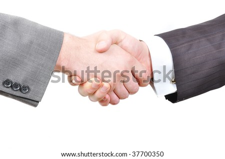 Two businessmen hands shaking