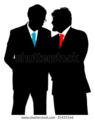 Two businessmen talking - stock photo