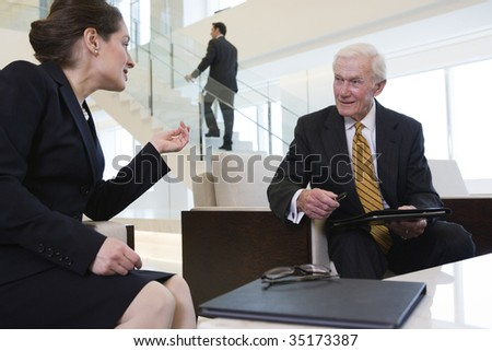 Two businesspeople - stock photo