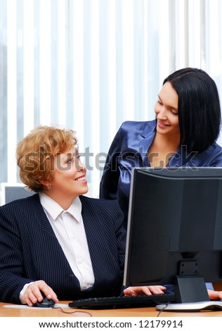 Two businesswoman communication in the office