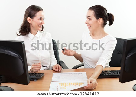 Two businesswomen working group