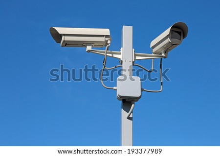 Two cameras - stock photo