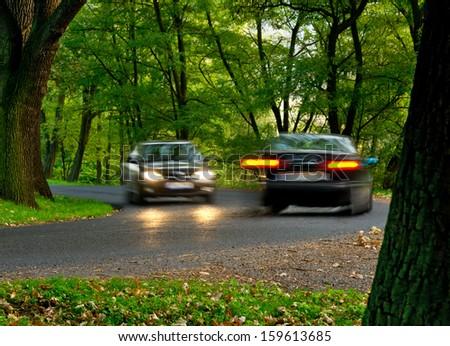 two cars  - stock photo