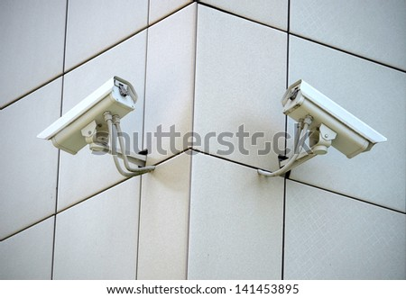 Two CCTV cameras on the cone