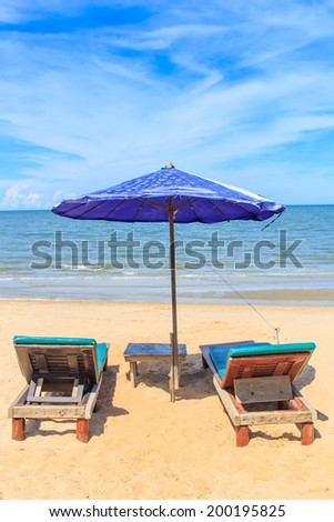 Two chair on the beautiful beach