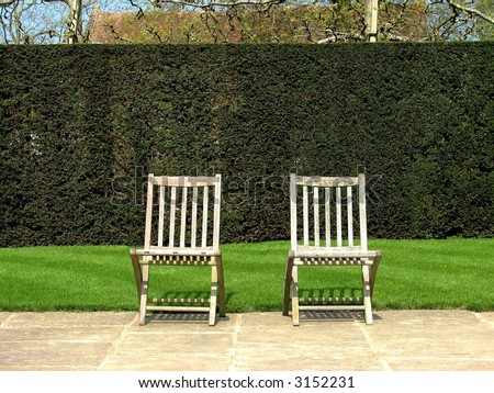 Two Chairs - stock photo