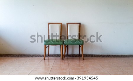 Two chairs in the room.