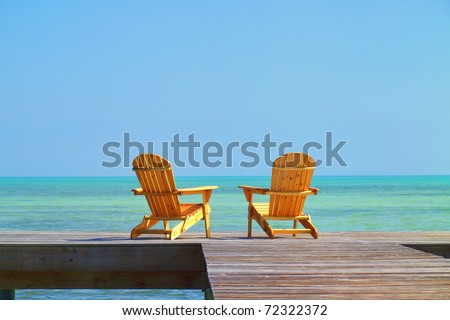 Two Chairs waiting to be occupied by you in your next vacation - stock photo