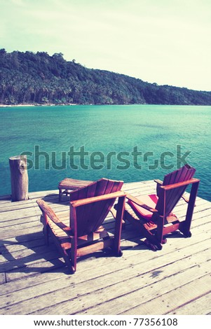 Two chairs with retro style - stock photo