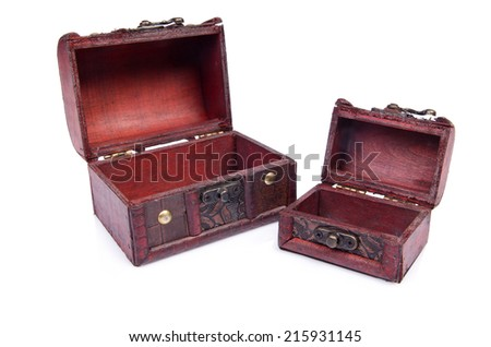 Two chests isolated on the white