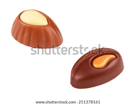 Two chocolate candies - stock photo