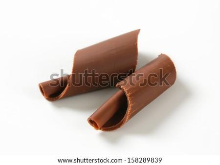 two chocolate spirals - stock photo