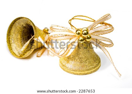 two christmas bells - stock photo