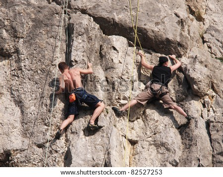 two climber - stock photo