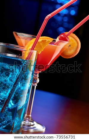 Two cocktails - stock photo