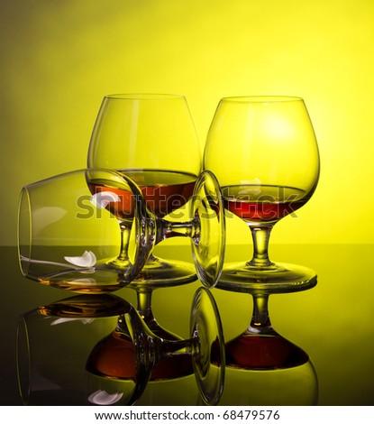 Two cognac - stock photo