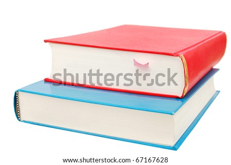 two color books on reading - stock photo
