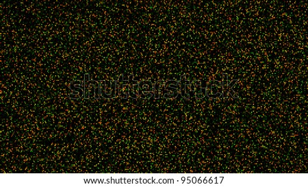 Two-color DNA microarray used in genomic research. Original scan from an actual experiment. - stock photo