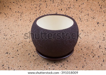 two color flowerpot - stock photo