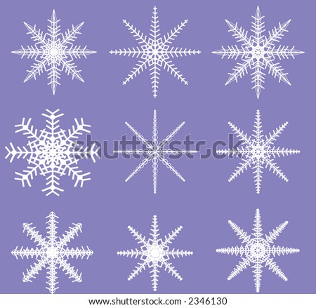 Two color Snowflake Template ready to be defined as a Brush