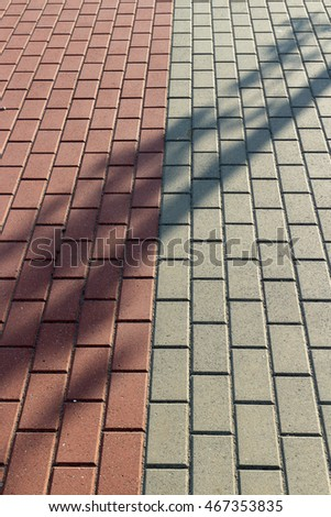 Two-color tile walkway