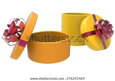Two colored boxes in orange and yellow - stock photo