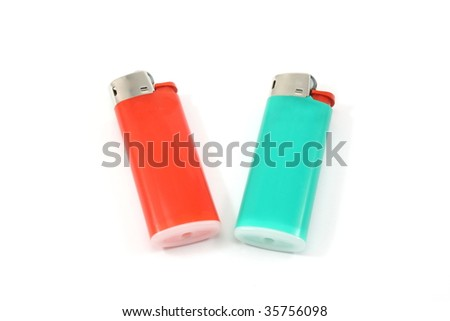 Two colorful lighters