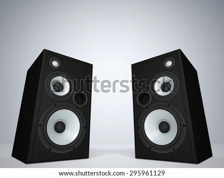 Two cool audio speakers