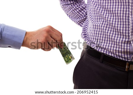 Two corrupted man  - stock photo