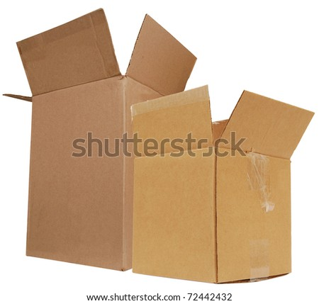 two crate boxes - stock photo