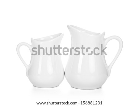 Two creamers isolated - stock photo
