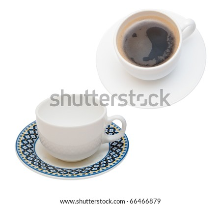two cups for coffee - stock photo