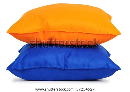 Two cushions. Isolated - stock photo
