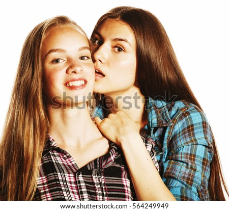 Cute Teenagers lifestyle cute portrait two best friends stock photo 402102736