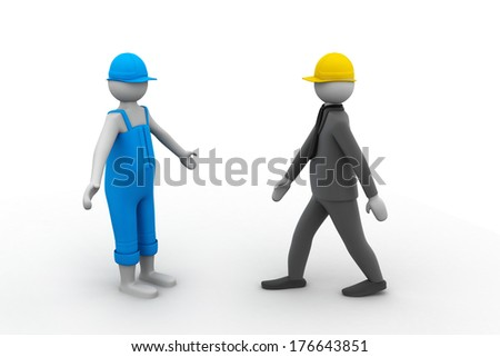Two 3d people walking