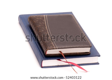 Two diary on white background - stock photo