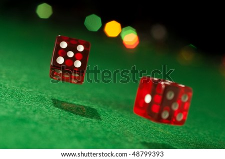 Two dice - stock photo
